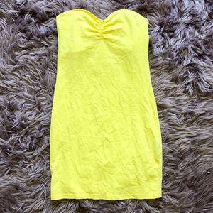 H&M yellow mini dress